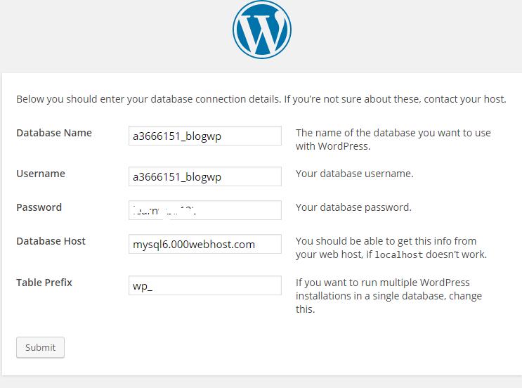 Database Info WordPress