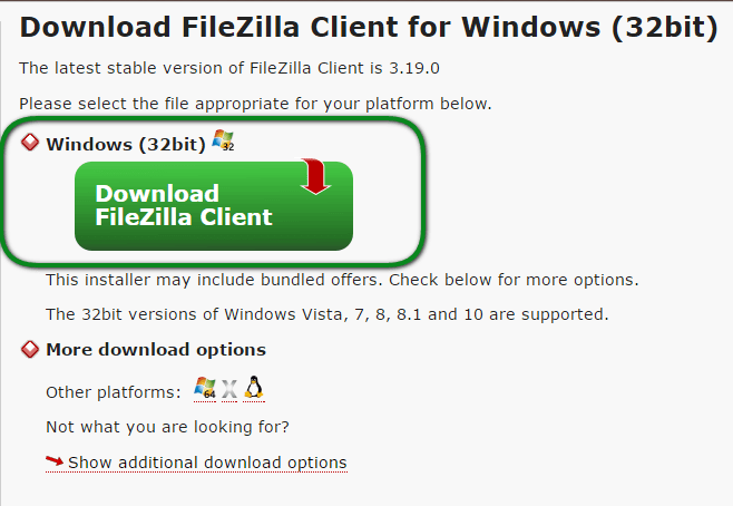 filezilla download windows