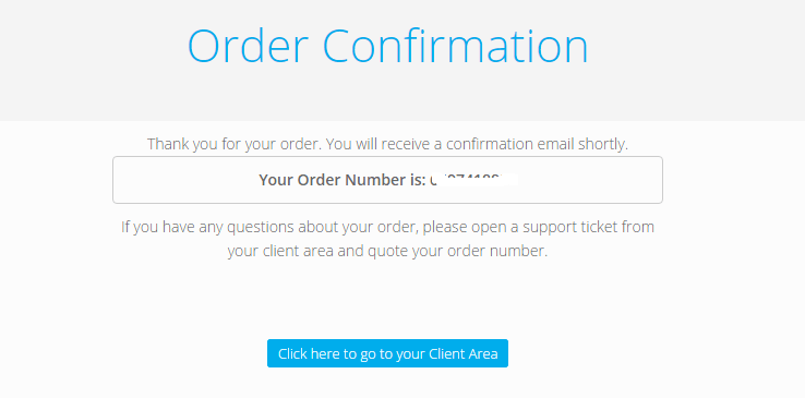 order confirm