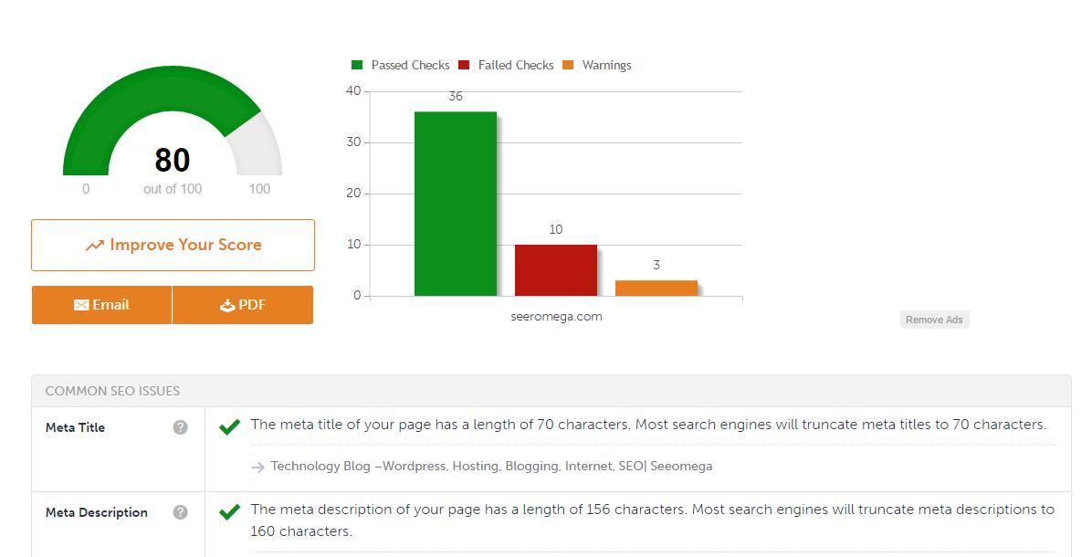 online website audit tools mysitecheckup