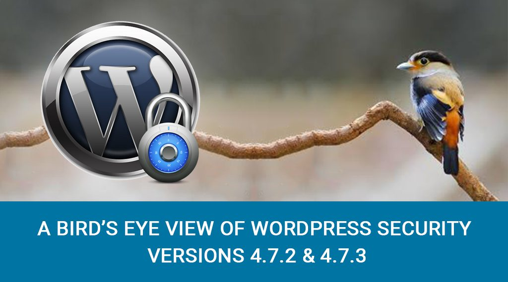 A Bird's Eye View Of WordPress Security Version 4.7.2 & 4.7.3