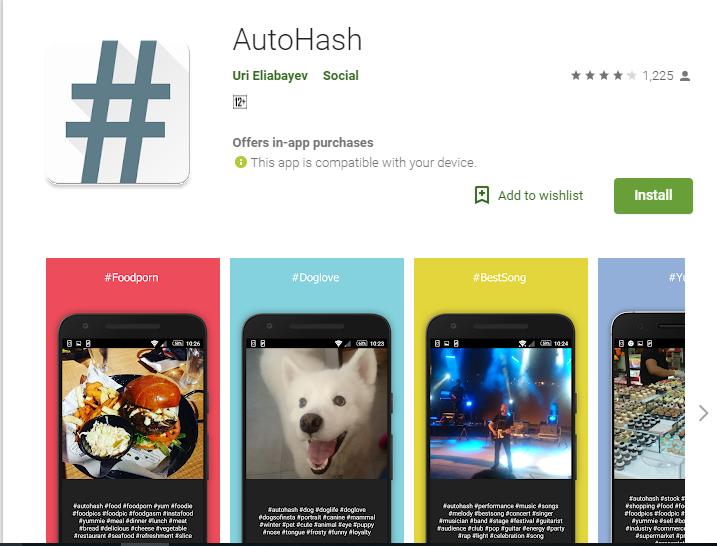 Autohash-Hashtag Generator Tools for Instagram