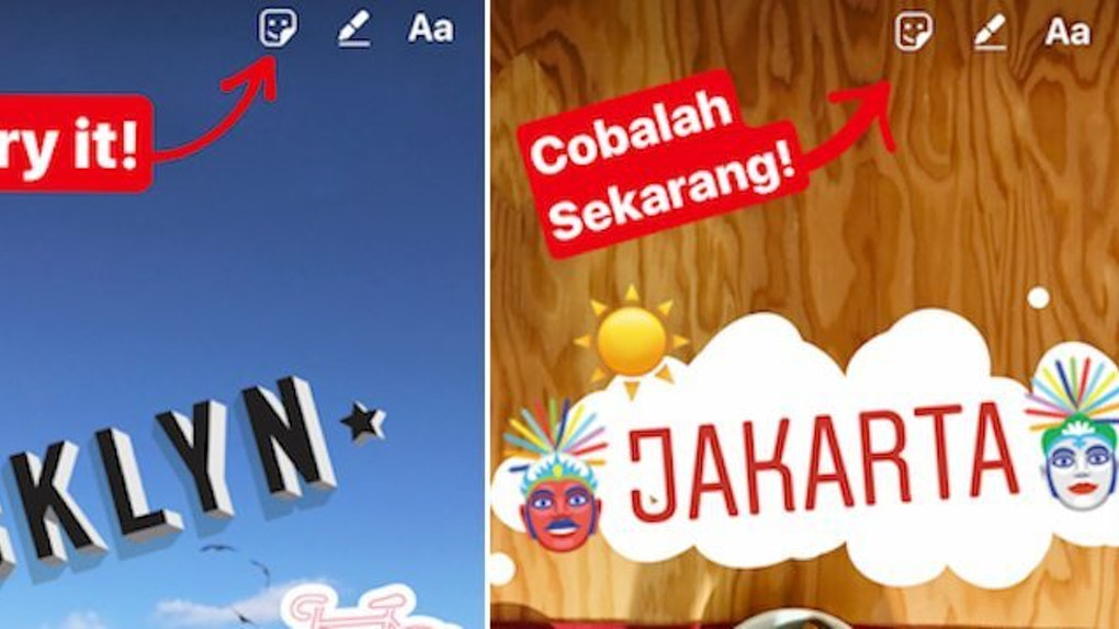 Types of Instagram Stickers-Location Stickers