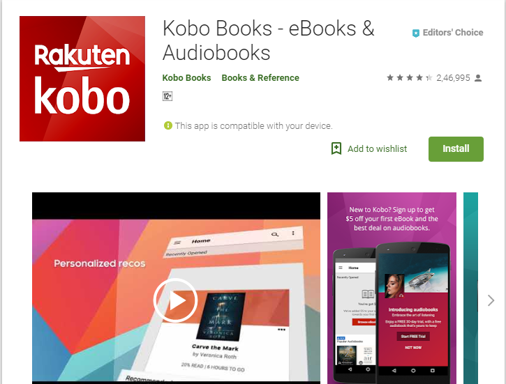 Kobo-Audiobook App Player for Android