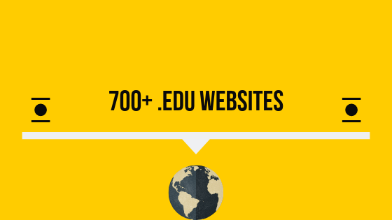 High Authority .Edu Websites To Get Backlinks