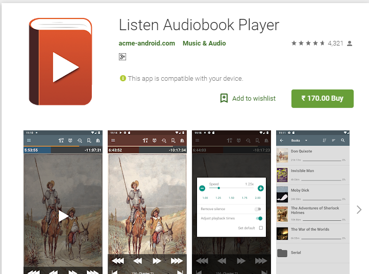 Listen Audiobook Player-Audiobook App Player for Android