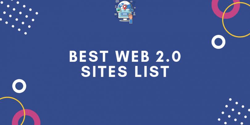 Best High DA 1000+ Web 2.0 Websites List