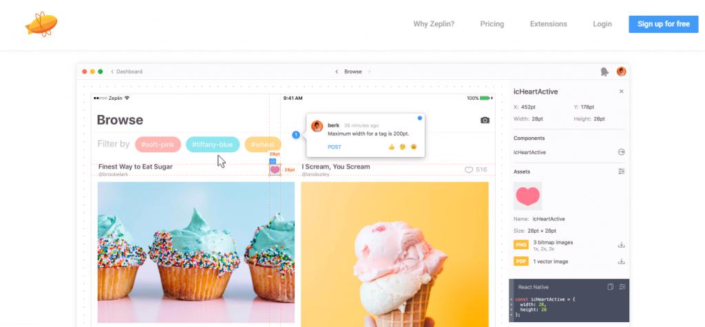 Zeplin-Mobile App UI Design Tools