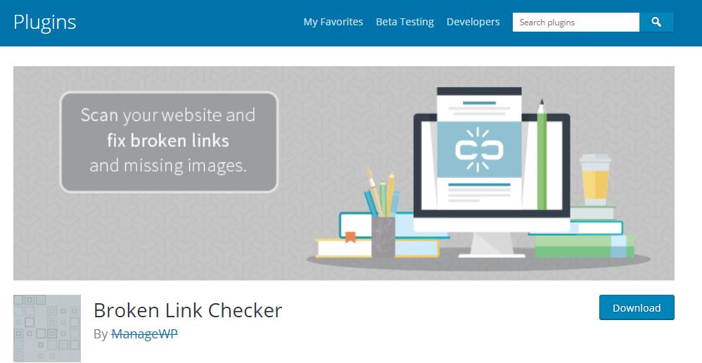 WordPress Plugins for SEO-Broken Link Checker