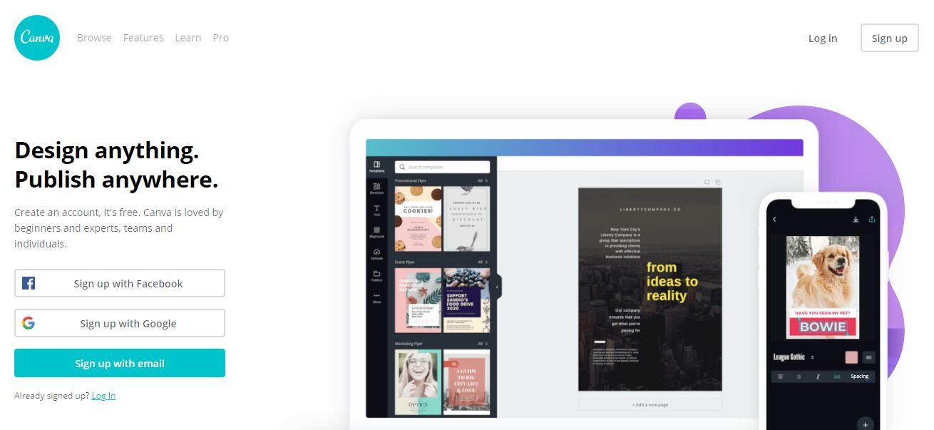 Canva-Content Marketing Tools