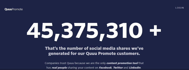 Quuu Promote-Content Marketing Tools