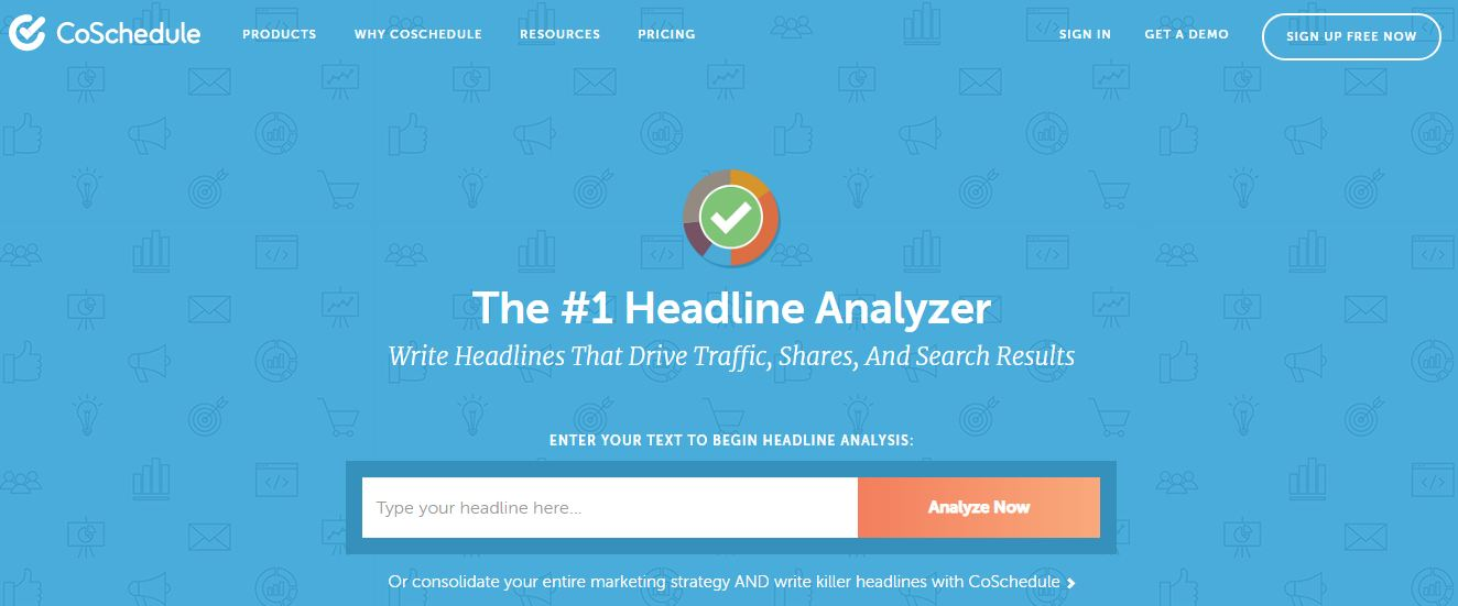 CoSchedule's Headline Analyzer-Content Marketing Tools