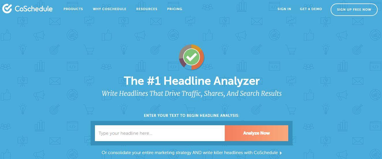 CoSchedule's Headline Analyzer-Content Marketing Tools