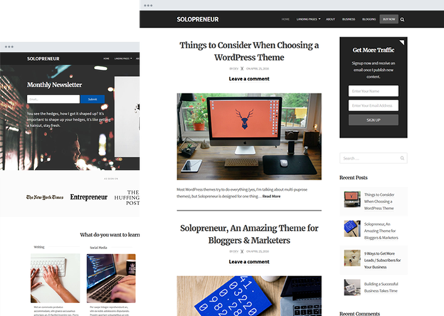 Solopreneurs-Top WordPress Themes for Business and Entrepreneur