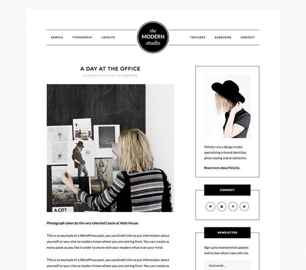 Modern Studio-Top WordPress Themes for Business and Entrepreneur