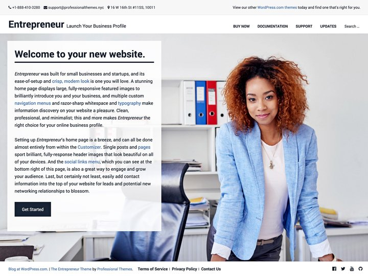 Entrepreneur-Top WordPress Themes for Business and Entrepreneur