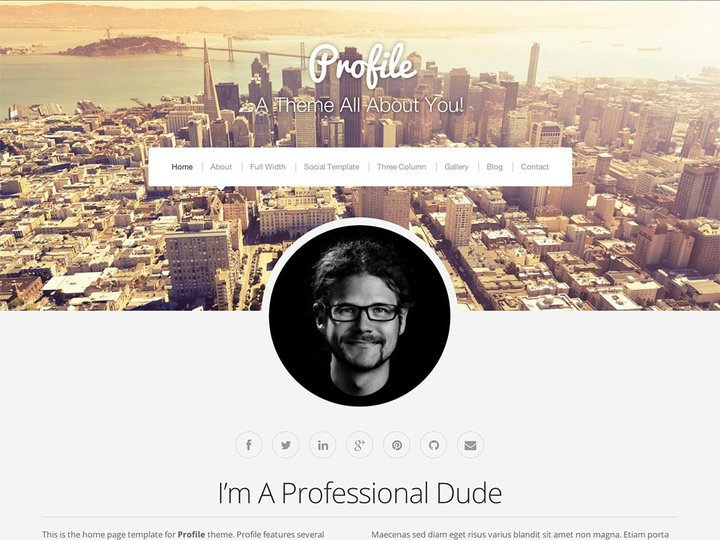 Profile-Top WordPress Themes for Business and Entrepreneur