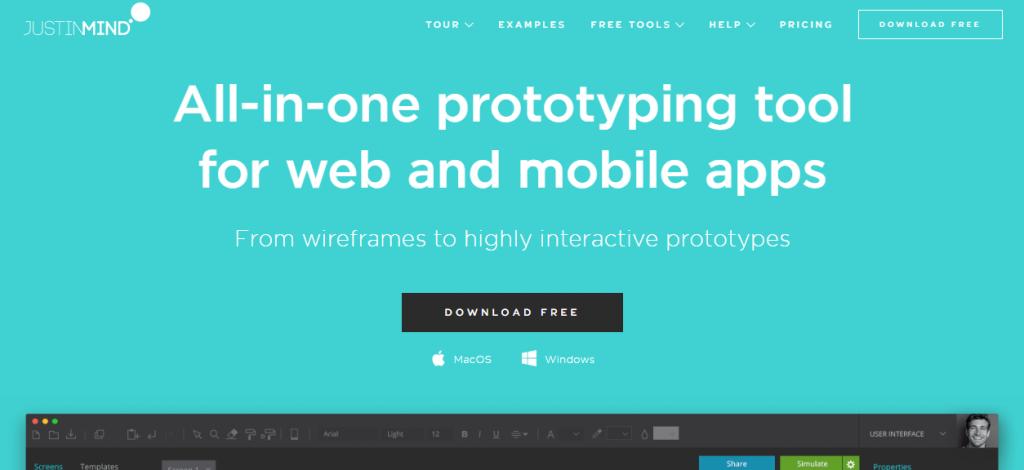 justinmind-Mobile App UI Design Tools
