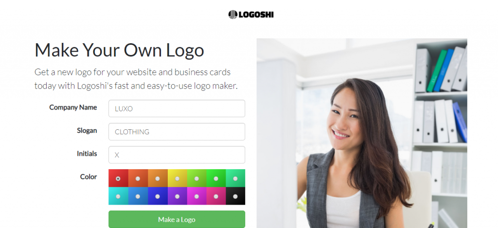 Logoshi Free logo creation online