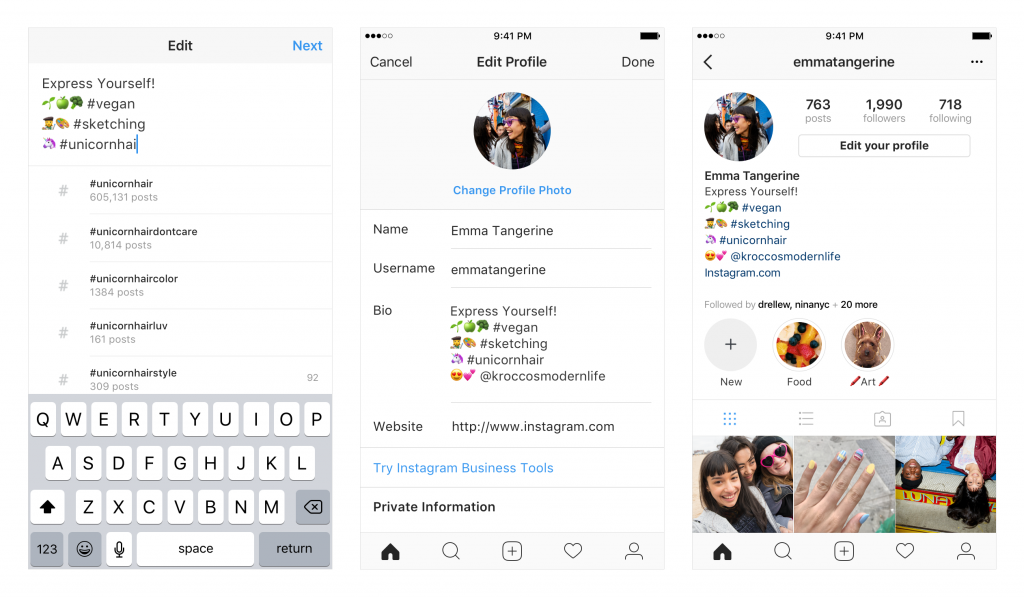 Mentioning Options-Instagram Features