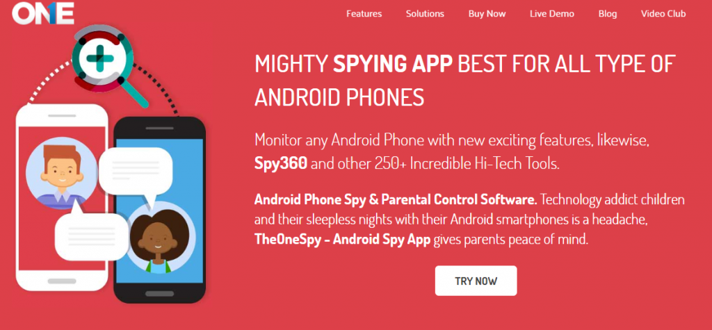 TheOneSpy-Android Spy app for Parents