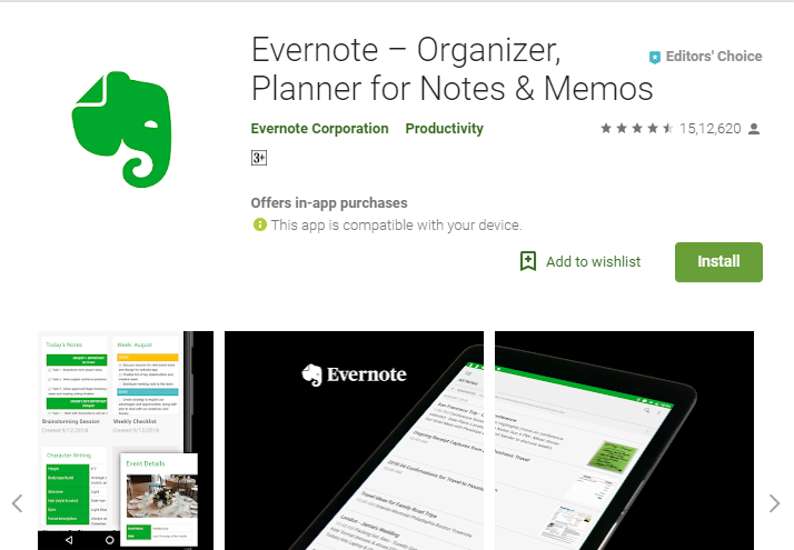 Evernote app-Best 7 Productivity Apps for Students