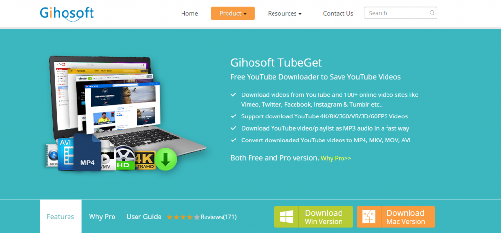 Gihosoft Tubeget-Best Video Downloader Tools