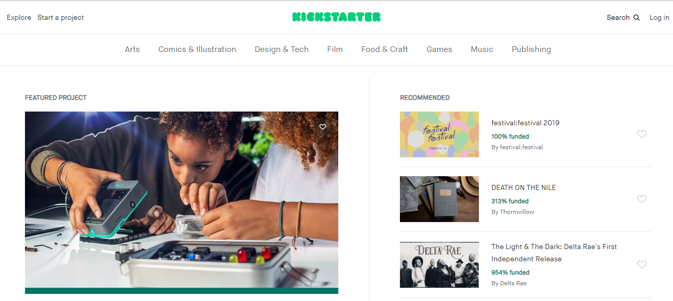 Kickstarter-Crowdfunding Platforms For Fin Tech