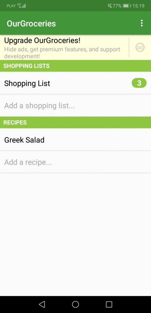 Our Groceries Shopping List-Best Grocery Shopping List Apps