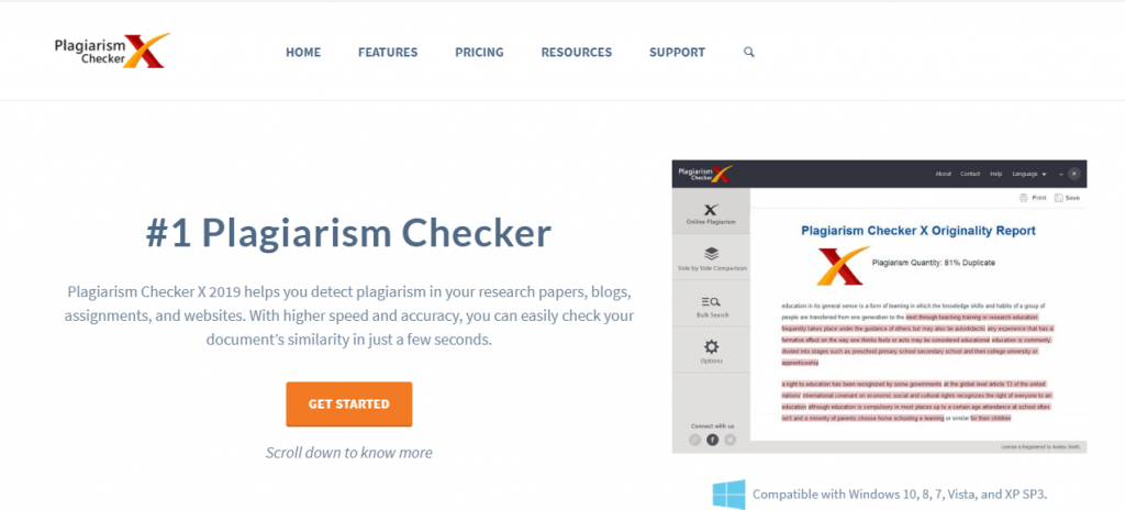 PLAGIARISM CHECKER X-Top Free Online Plagiarism Checkers Tools