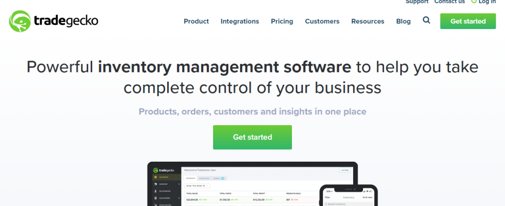 TradeGecko-Best Inventory Management Systems for 2019