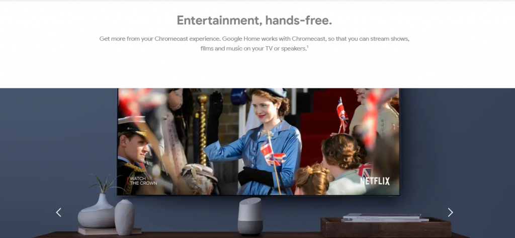 You can cast video on your TV