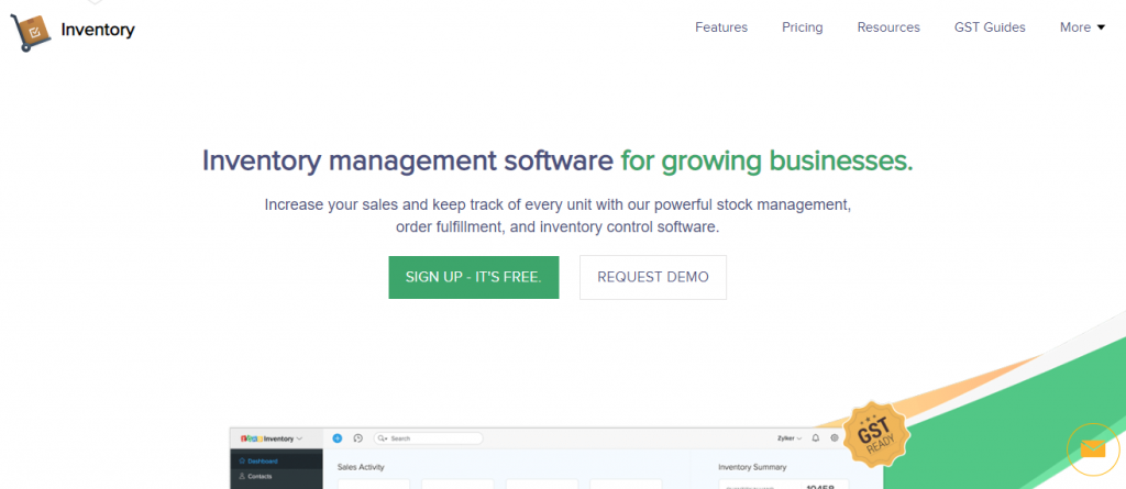ZOHO Inventory-Best Inventory Management Systems for 2019