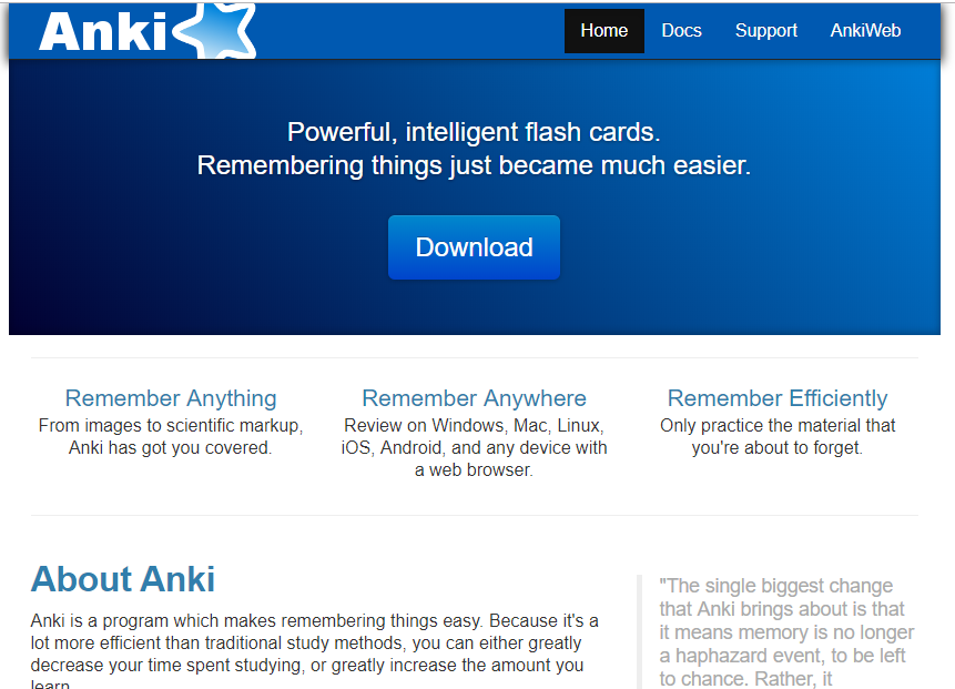 anki-Best 7 Productivity Apps for Students