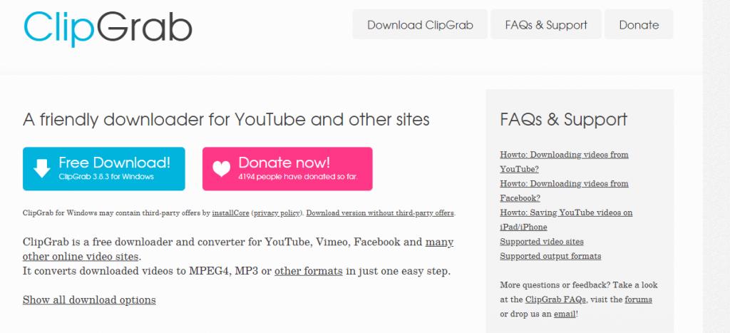 clipgrab-Best Video Downloader Tools