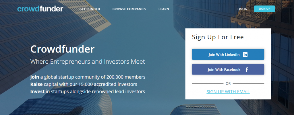 Crowdfunder-Investments For Startups - Over $200MM Raised