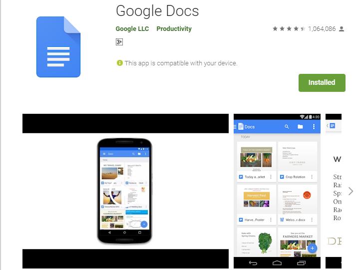 google docs-Best 7 Productivity Apps for Students
