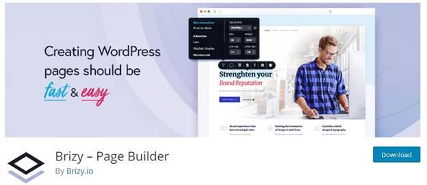 Brizy Visual Editor-Must have WordPress Web Design Plugins For Beginners