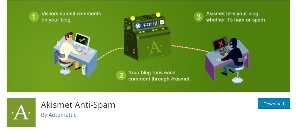 Akismet -Must have WordPress Web Design Plugins For Beginners