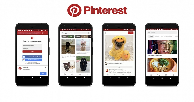 Examples of Progressive Web Apps-pinterest