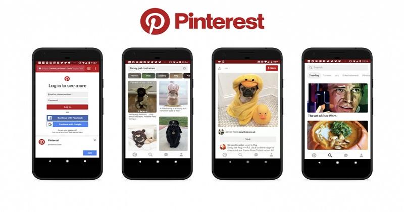 Examples of Progressive Web Apps-pinterest