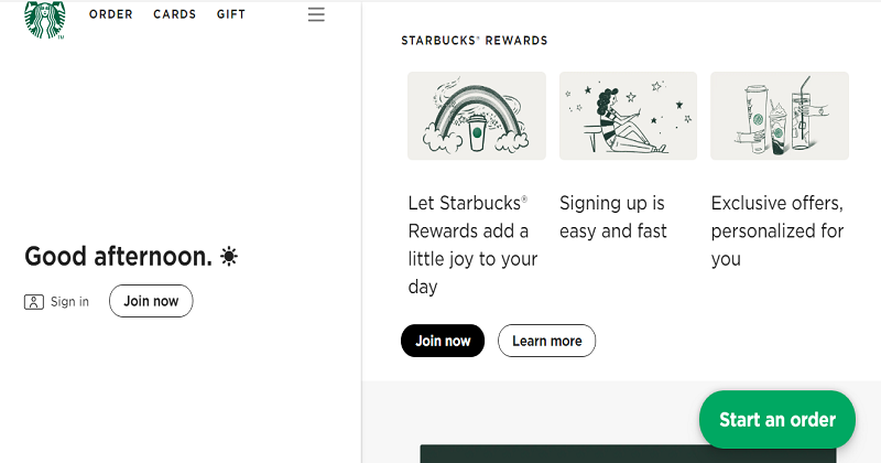 Examples of Progressive Web Apps-starbucks