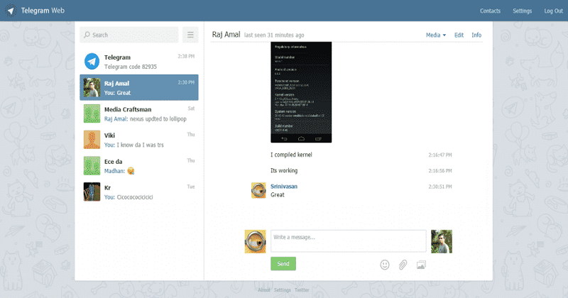 Examples of Progressive Web Apps-telegram