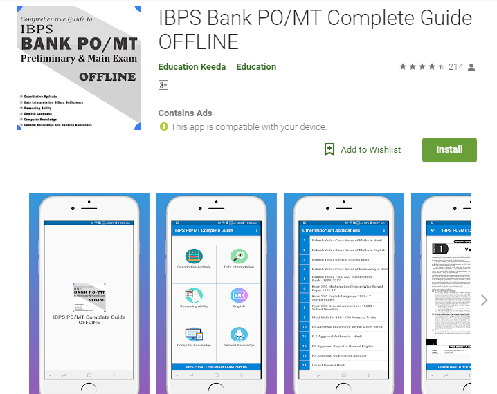 IBPS Bank PO/MT Complete Guide OFFLINE by Education Keeda