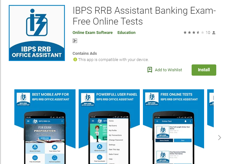 IBPS RRB Assistant Banking Exam- Free Online Tests