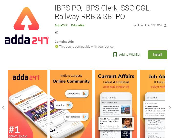 adda247-IBPS PO, IBPS Clerk, SSC CGL, Railway RRB & SBI PO