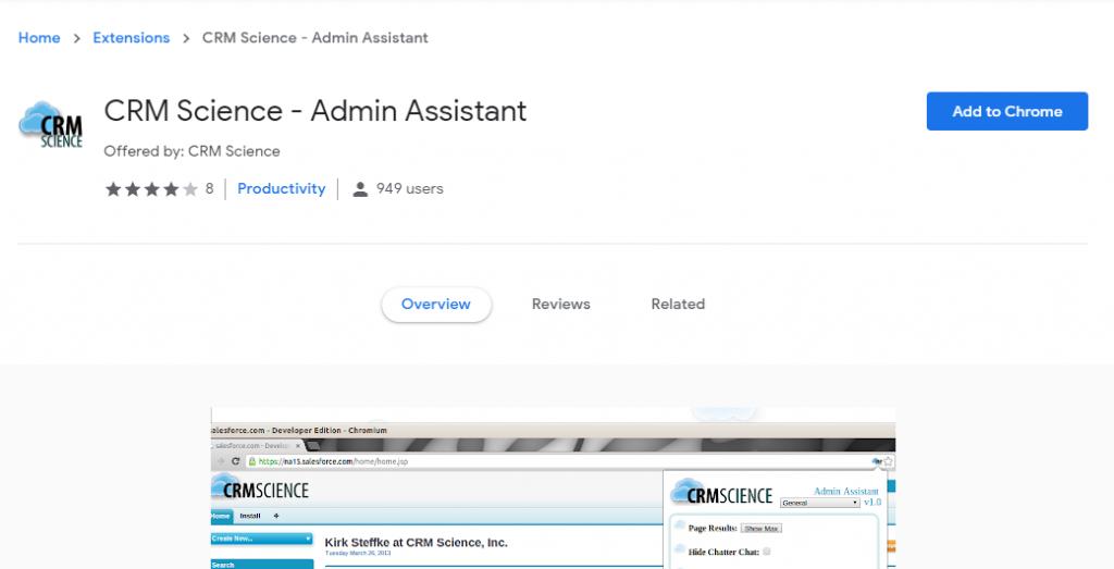 salesforce google chrome extensions-Admin Assistant