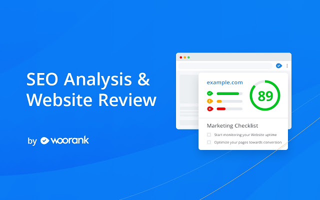analysis extension by Woorank