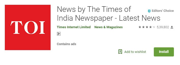 News by TOI (Times of India)-Best Current Affairs apps