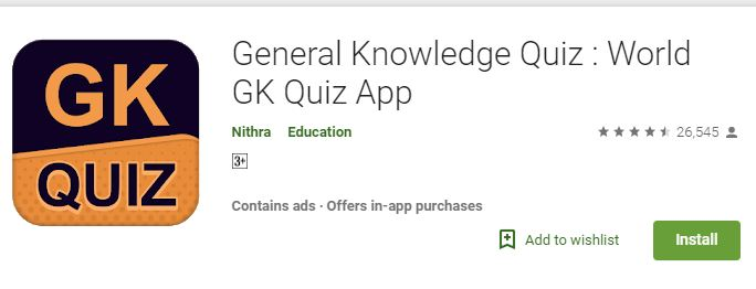 General Knowledge Quiz – World GK Quiz App